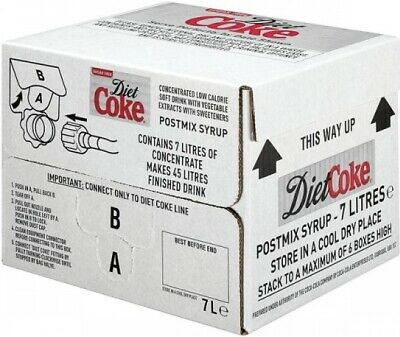 7ltr Diet Coke Bag In Box (Post Mix Syrup) - Minimum 4 weeks date guarantee