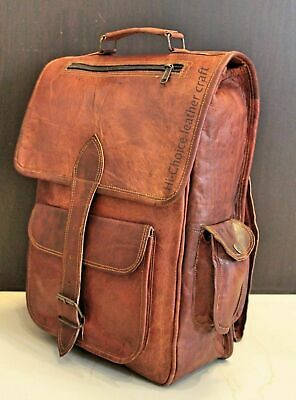 Large Capacity Genuine Leather Shoulder Bag Women Backpack 16 Inches