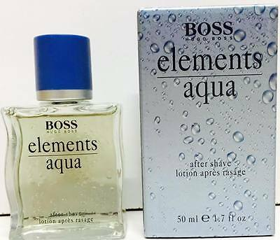 HUGO BOSS AQUA ELEMENTS AFTER SHAVE LOTION SPLASH ( No Spray)  50ml New & Rare