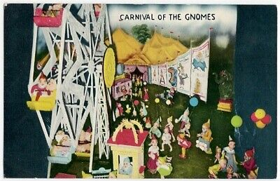 Carnival of Gnomes Fairyland Caverns Rock City Chattanooga Tn Vintage Postcard