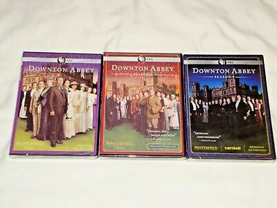 Downton Abbey Seasons 1-3,PBS Masterpiece Original U.K. Edition DVD New & Sealed