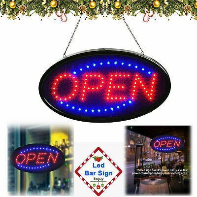LED Ultra Bright Neon Light Animated Motion Business Sign with ON/OFF Store OPEN