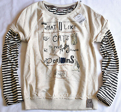 Next Girl's 7 Years Old 'What I Like' Oat Mill Sweater Jumper Bnwt