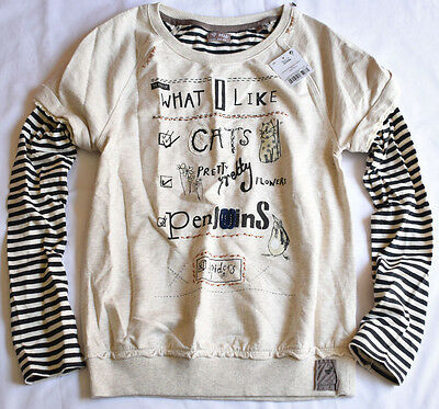 Next Girl's 4 Years Old 'What I Like' Oat Mill Sweater Jumper Bnwt