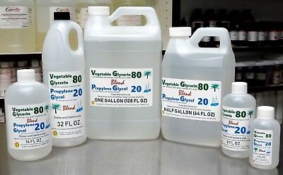 80/20 Blend Vg / Pg Vegetable Glycerin & Propylene Glycol Usp Kosher Food Grade