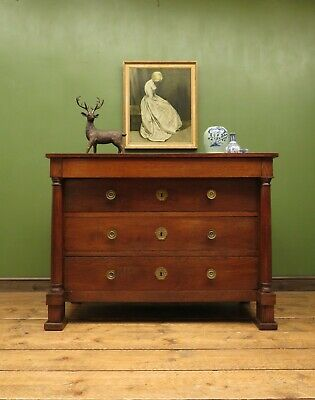 Antique French Cherry Chest of Drawers, Empire Style early 19th Century piece