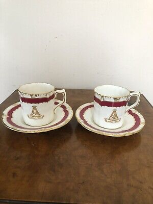 Royal Crown Derby Demitasse Cups And Saucers