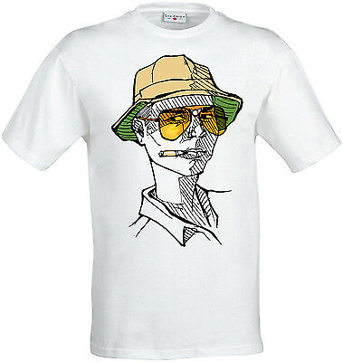 fear and loathing in las vegas sketch art men (woman available) t shirt white