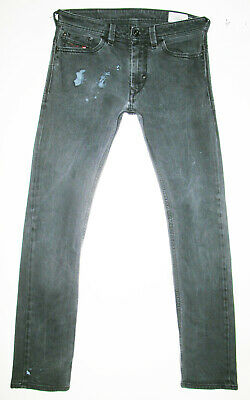 e6ee2ab9 *HOT AUTHENTIC Men's DIESEL @ THANAZ 8IE Slim SKINNY BLACK STRETCH Jeans 30  x 32