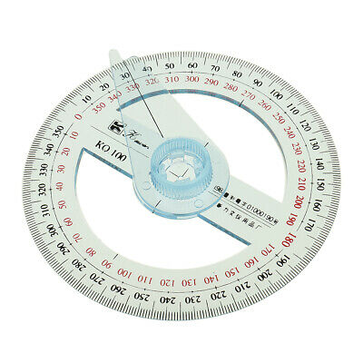 360 Degree Protractor 10cm Angle Finder Sewing Arm F Student Office Engineer