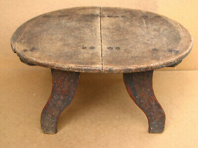 Antique Primitive Wooden Wood Three Legged Repast Dinning Table 19th Ottoman Era