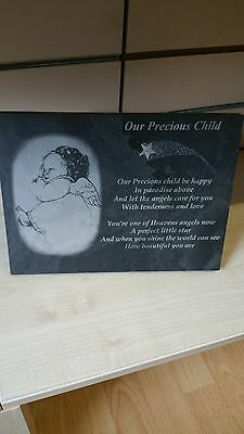 "Memorial / Grave Plaque ""Our Precious Child"""
