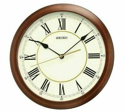 Seiko Japanese Quartz Wall Clock Wooden Look Faux Wood Vintage NEW