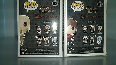 lot of 2 funko pop tyrion lannister and daenerys targaryen Game of thrones