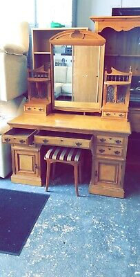 victorian Ornate dressing table By Maple And Co C1880