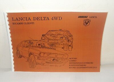 Manuale Catalogo ricambi Abarth Lancia Delta 4WD Spare parts catalog