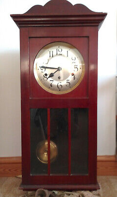 Mahogany Westminster Chime Wall Clock - For Repair