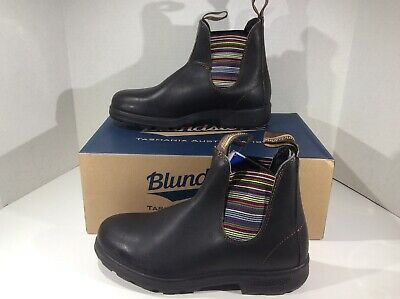 BLUNDSTONE Womens 1409 Black Leather Pull On Ankle Boots Shoes Sz 9 YB-602