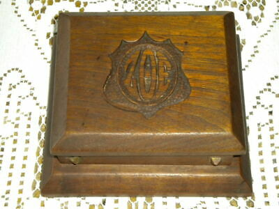 Antique Arts & Crafts Hand Wrought Box WUD Shop Westford NY Engraved ZOE VG Cond