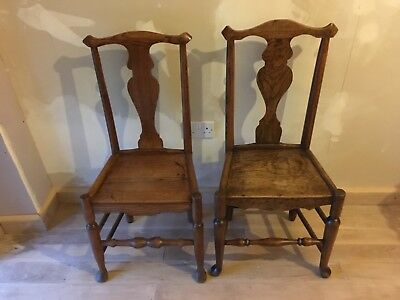 18th Century Elm country chair near pair hall dining bedroom kitchen occasional