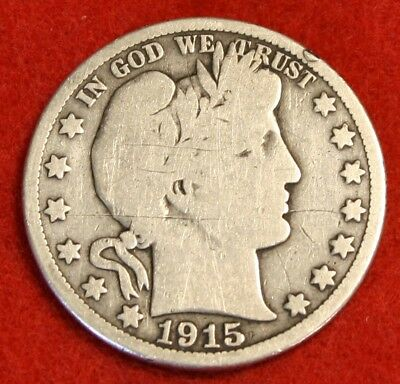 1915-S Barber Half Dollar Vg Beautiful Coin Check Out Store Bh461