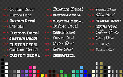 Custom name Sticker Decal Shop Car Outdoor Window Commercial Grade 5~200 cm