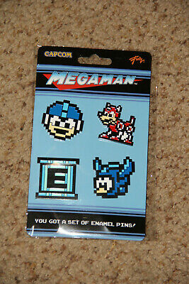 NEW! Loot Crate Gaming Nintendo Mega Man 8-Bit Enamel 4 Pin Set
