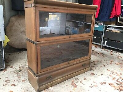 Antique Globe Wernicke 2 section Barristers Bookcase - Display Cabinet Stacking
