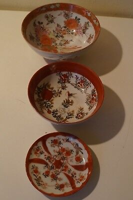A collections of three Japanese Kutani bowls XIX century