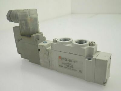 SY5120-5DZ-01T Smc Solenoid Valve 5 port; 2 posit single 24vdc + (Used Tested)
