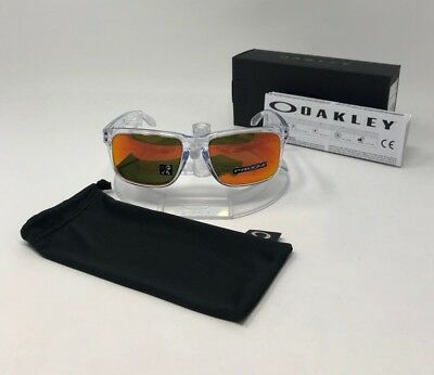 f4c5419286 NEW IN BOX Oakley Holbrook Sunglasses | Polished Clear/Prizm Ruby | OO9102 -H455
