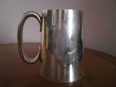 Sterling silver christening mug tankard Goldsmiths & Silversmiths Co Ltd  378 g