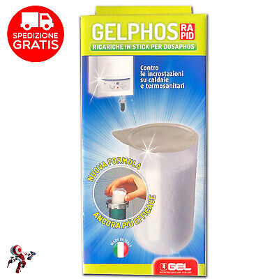 Gelphos Rapid Ricariche Gel Confezione Da 8 In Stick Pronte All'Uso Per Dosaphos