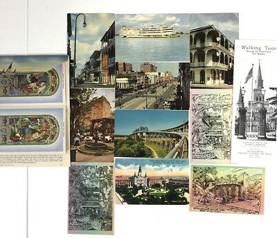 New Orleans Postcard Lot St. Louis Cathedral French Quarter Vieux Carre Guide