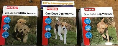 beaphar One Dose Wormer for  Puppies & Dogs, small ,medium, large or Flea comb