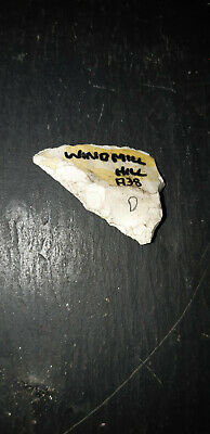 British neolithic flint tranchet arrowhead from Windmill Hill nr Avebury Wilts.