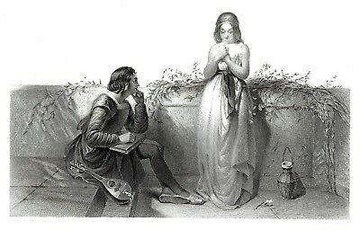 """""""First Love"""" Engraving by S. Sangster after Joseph John Jenkins - c1860"""
