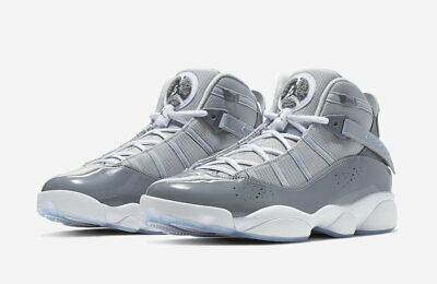 31f764492ca BRAND NEW NIKE Air Jordan 6 Rings Shoes Matte Silver White Wolf Grey ...