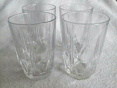 4x Vintage Retro ARCOROC FRANCE Set Clear Small Tumbler Short Bar French Juice