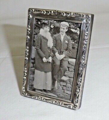 Vintage Solid Sterling Silver Easel Type Photograph Frame (1134/A/OOY)