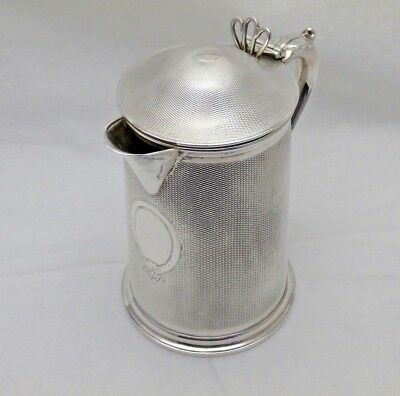 Stunning Antique Sterling Solid Silver Lidded Jug 1868 545g (1000a-9-OSNY)