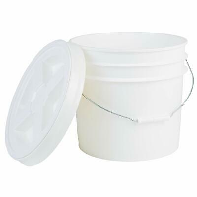 Hudson Exchange Premium 3.5 Gallon Bucket with Gamma Seal Lid, HDPE, White
