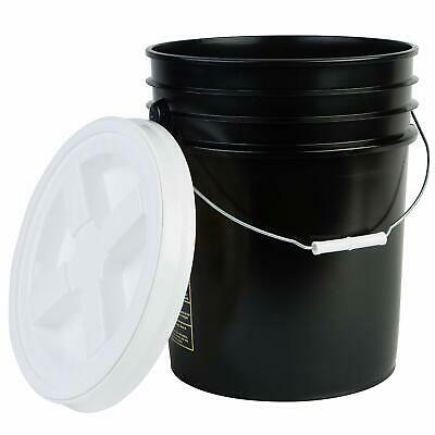 Hudson Exchange Premium 5 Gallon Bucket with Gamma Seal Lid, HDPE, Black
