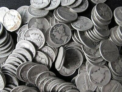 Lot of (100) Collectible Mercury Silver Dimes $10 Face Value 90% US Coin