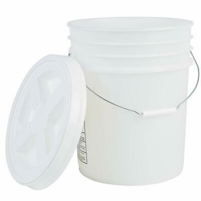 Hudson Exchange Premium 5 Gallon Bucket with Gamma Seal Lid, HDPE, Natural