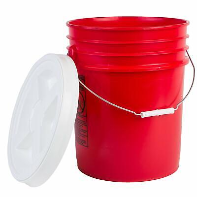 Hudson Exchange Premium 5 Gallon Bucket with Gamma Seal Lid, HDPE, Red