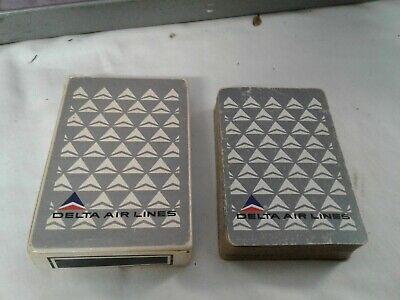 DELTA AIRLINES playing cards full deck USED signs of play original box poker