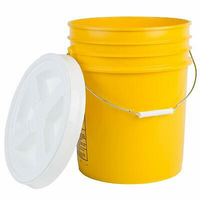 Hudson Exchange Premium 5 Gallon Bucket with Gamma Seal Lid, HDPE, Yellow