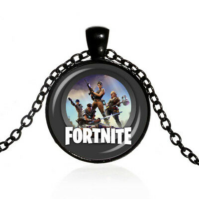 *FORTNITE*  Fortnite Battle Royale Pendant with Luxury Velvet Bag NEW