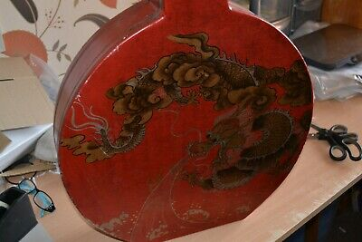 Large Chinese Oriental Wooden Fireplace Ornament / Vase ? - #LD